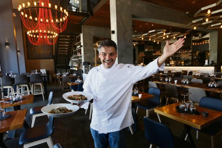 Matteo Musetti (Owner and Chef La Sosta) with a Seafodd Cavatelli and a Pappardelle al Capretto. This year