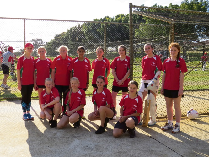 Members of Wanneroo Districts Cricket Club's female  academy.