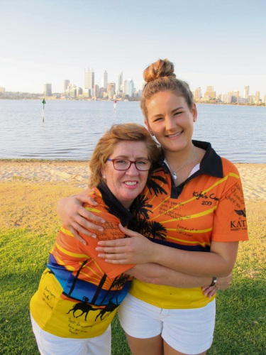 Kyle Andrews Foundation founding member Anne-Maree Maguire and volunteer mentor Deni Atkinson.