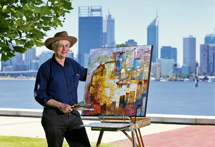 East Fremantle artist debuts new collection of South Perth paintings