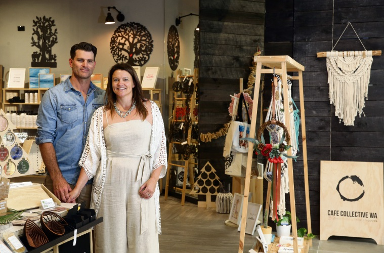 Clint and Heidi McGrath (Duncraig) owners of Cafe Collective. Photo: Martin Kennealey