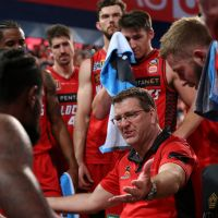 Perth Wildcats and coach Trevor Gleeson hope to return to the winning list against the Adelaide 36ers tonight and Melbourne United at home on Sunday. Picture: Paul Kane/Getty Images
