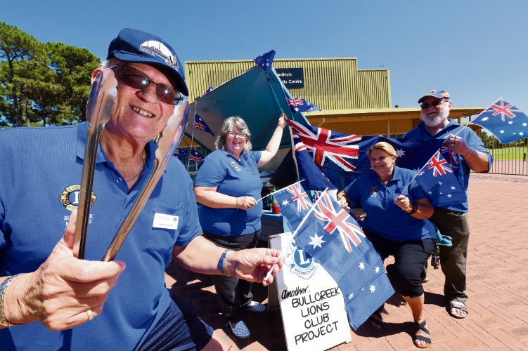 Lions Club of Bull Creek members Denis O'Brien, Deb Marks, Dianne Oeding and Terry Johnson are looking forward to Australia Day. Picture: Jon Hewson