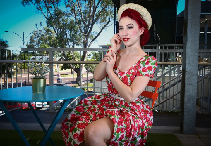 Miss Lady Lace is off to Vegas after appearing in Burlesque Idol at Perth's Fringe World Festival. Picture: Matt Jelonek d489860