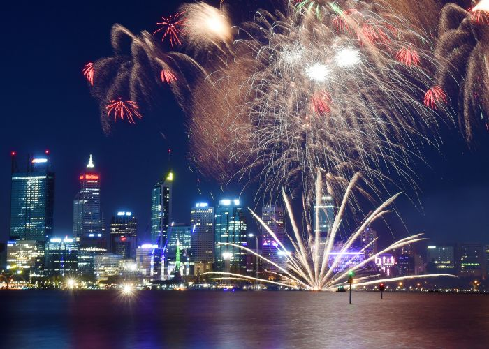 There will be boat exclusion zones during the Australia Day Perth Skyshow. File picture: Jon Hewson