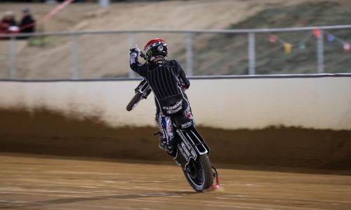 Tai Woffinden set to light up the track Saturday night at Pinjar Park. Picture: Woza's Photography
