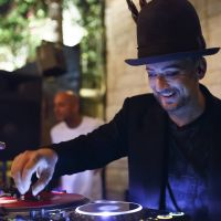 Boy George djs in Hollywood. Picture: Rich Polk/Getty Images for Le Jardin