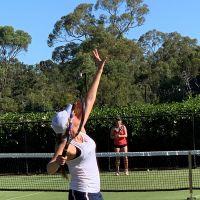 Brittany Sheed serving for Royal Kings Park against Hensman's Jaime Edwards