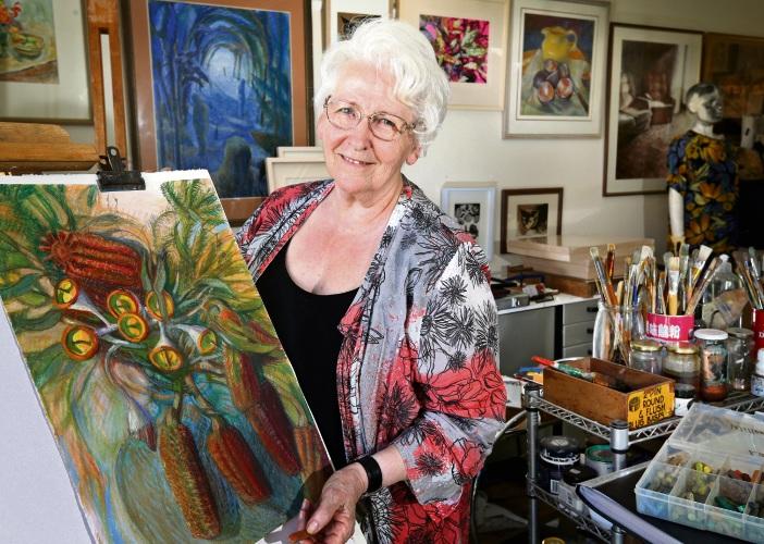 Artist and Art Teacher Willemina Foeken of Southern River. Photo: David Baylis