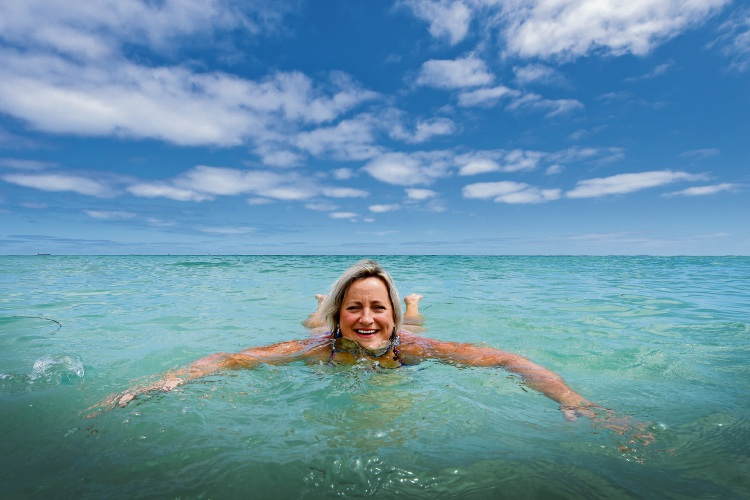 Fiona Stanley Hospital doctor Brooke Murphy is gearing up for the Port to Pub swim. Picture: Jon Hewson