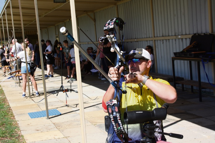 Craig McMurdo is aiming for the World Archery Para Championships. Picture: Carrie-Anne Lachance