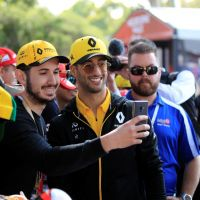 Daniel Ricciardo meets the fans. Picture: Barnsiesphotos