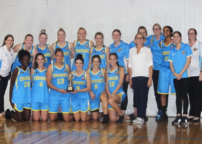 The Community News Cup winning Cockburn Cougars women.