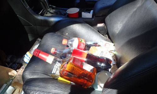 The front seat of the driver's car.  Photo: WA Police