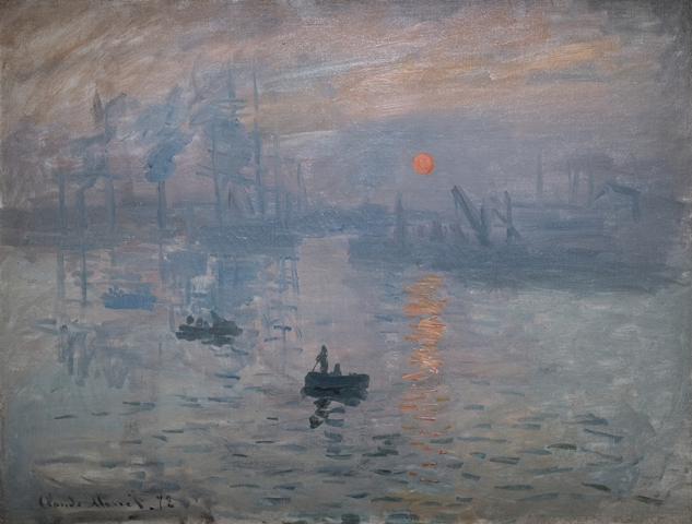 Impression sunrise 1872 by Claude Monet
