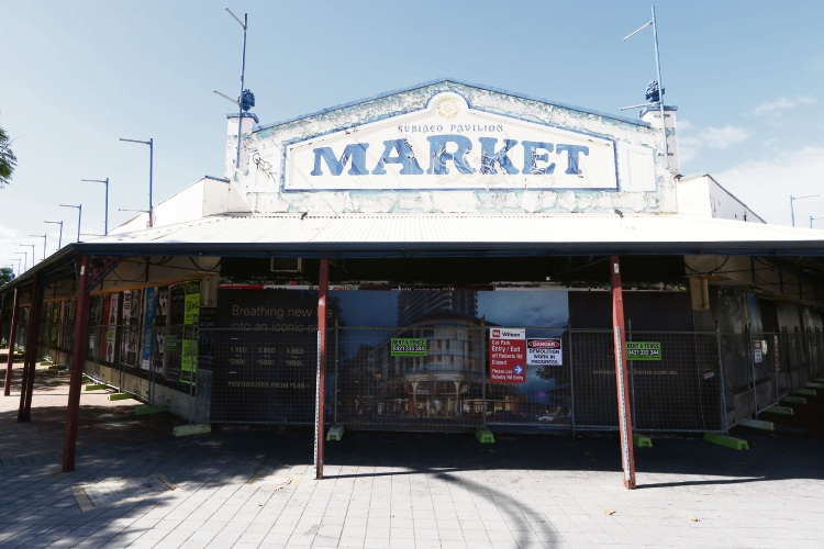 Former Subiaco Pavilion Markets ready for demolition.