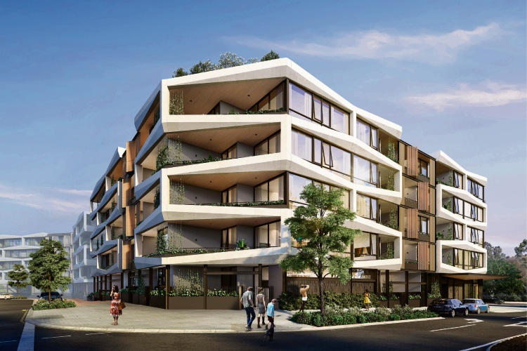 An artist's impression of the Orchard Terrace development