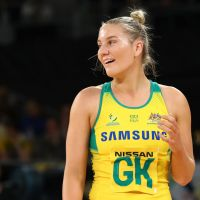 Courtney Bruce has been selected in the Australian team for the Netball World Cup. Picture: Kelly Defina/Getty Images