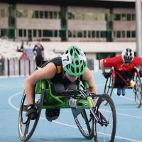 Robyn Lambird is ranked in the world's top five for both the T34 100m and 200m.