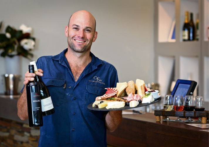 Olive Farm Wines owner and wine maker Anthony Yurisich. Picture: David Baylis.
