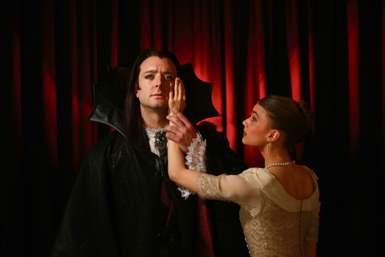 Matt Lehmann and Carina Roberts in Dracula. Picture: Andrew Ritchie d485541