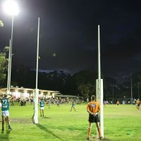 Improved sports floodlighting at Kingsley Park were switched on for A-grade match between Kingsley and Kingsway on Saturday night.