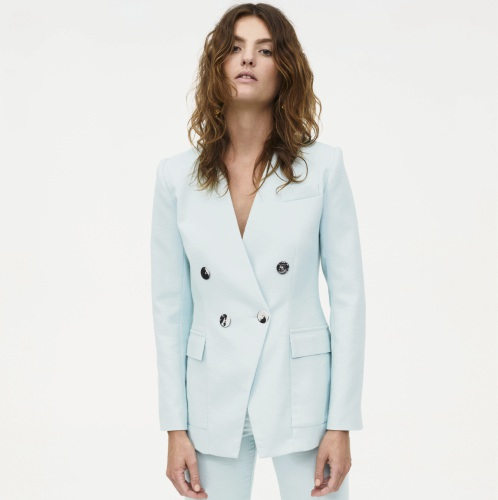 Manning Cartell Mint Alabaster Blazer, $599, and Mint Alabaster Pant, $399