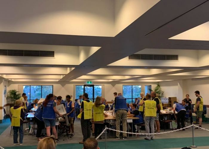 Counting for the Joondalup council election. Picture: City of Joondalup/Facebook
