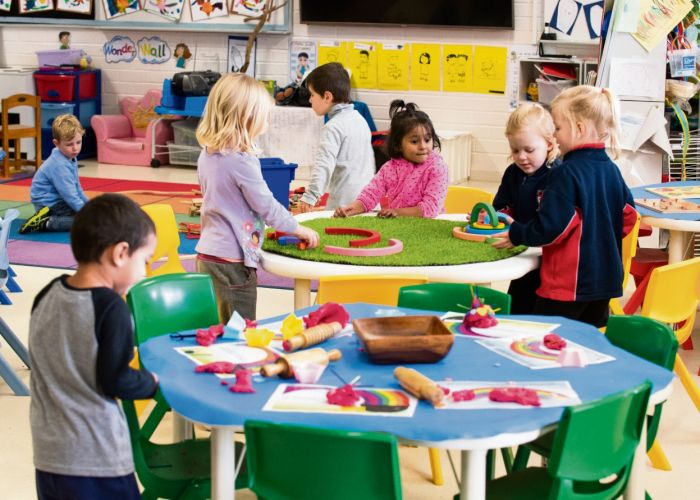 Learning occurs within a social context with children engaged in purposeful interactions with both peers and educators. Picture: Supplied