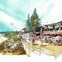 An artist's impression of the Yanchep Lagoon waterfront.
