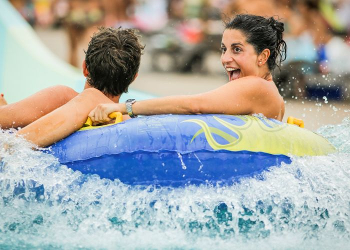 Thrill seekers can try out the new waterslides from November 20. Picture: Polin/Aqualand
