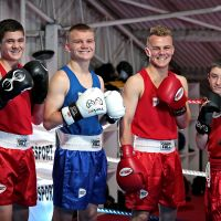 Darcy Luke (16) of Burns Beach, Seth Price (15) of Tapping, Solomon Price (18) of Tapping and Jay Keating (13) of Ridgewood.  Boxers from the Wanneroo Amateur Boxing Club recently had success at the national boxing championships. Pictures: David Baylis www.communitypix.com.au d496746