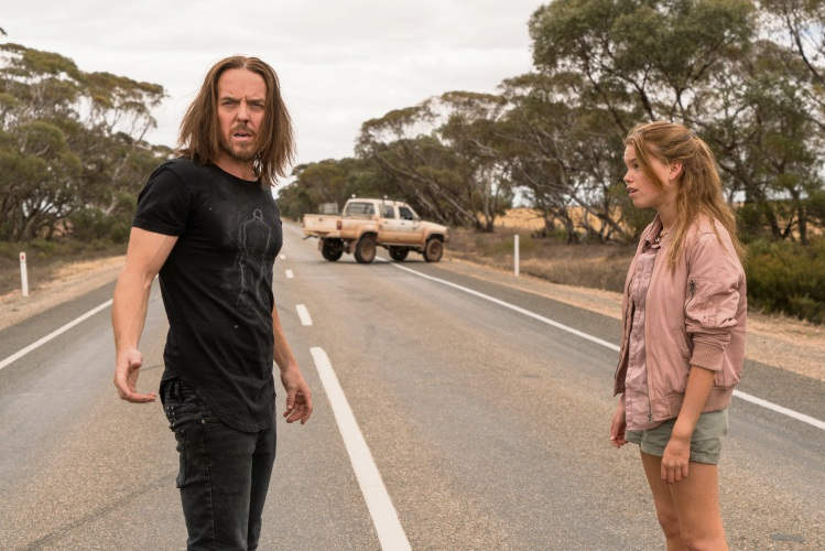 Tim Minchin and Milly Alcock in Upright.