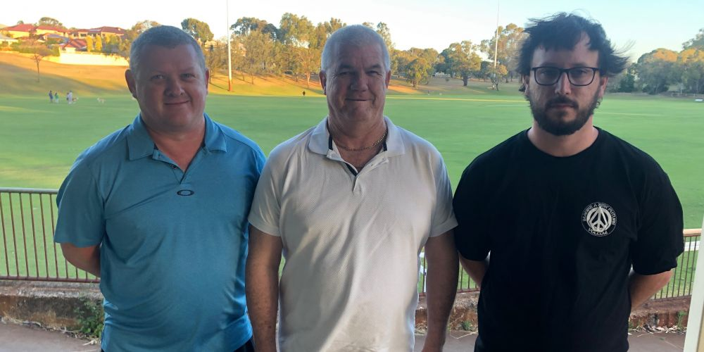 Kingsley Westside Football Club junior president Mark Nelson, interim chairman Rob MacKay and senior president Rob Andrews. Picture supplied