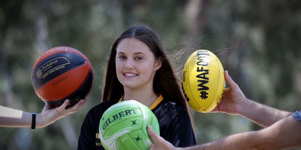 d497044a Bull Creek girl Georgie Cleaver (14) has had an amazing year in multiple sports. Picture: Andrew Ritchie
