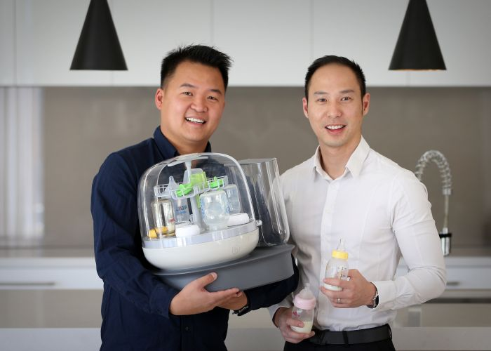 d497095a Applecross dads Ricky Hee and Alex Djojoutomo with the Bottle Bath. Picture: Andrew Ritchie