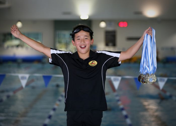 d497286i South Shore Swimming Club star Tristan Lin. Picture: Andrew Ritchie