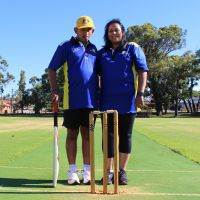 Dylan and Debbie Beresford are proud Kardinya Lakes Cricket Club members. Picture: Aaron Corlett