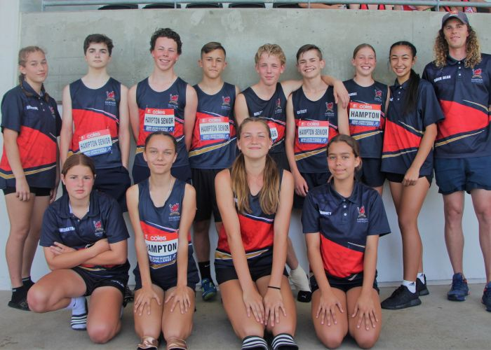 Hampton Senior High School's Nitro athletics team.