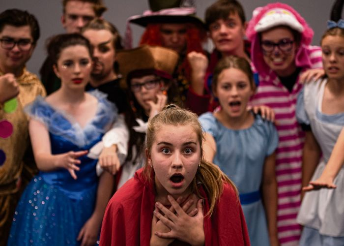 Once Upon A Fractured Fairytale stars JETS students Samantha Buckingham, Daniel Witherington, Grace Perks, Harry Smith, Mya Fifield, Anna Griffiths, Sean Smith, Brianna Powell, Alex Balling, Ben Lane and Sam Martin. Picture: Alyssia Boyer