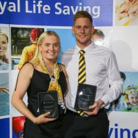 Chalise Pratt and Jake Smith were named the male and female lifesavers of the Australian Pool Lifesaving Championships.
