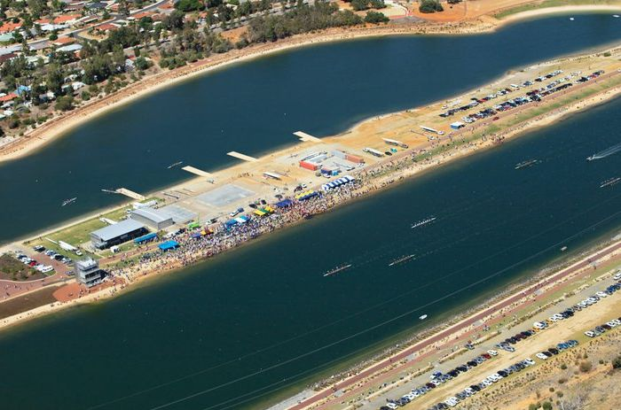 An aerial shot of the Champion Lakes Regatta Centre. Photo: MRA.wa.gov.au