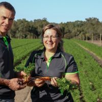 Gingin Organics Noel and Lynda Harding. Picture supplied