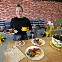 Daily Grind Cafe head barista Megan Kinslow. Pictures: David Baylis www.communitypix.com.au d497961