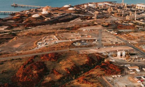$50 billion Burrup Hub liquefied natural gas development. Picture: Woodside/Jarrad Seng