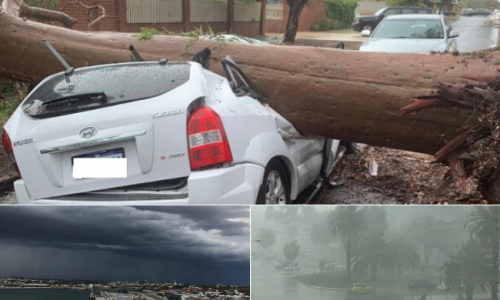 Perth pounded by big storm