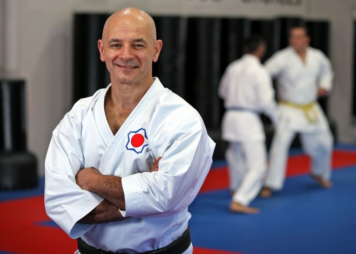 Shobukan Martial Arts director Dion Panossian has been selected as a karate referee for the Tokyo 2020 Olympic Games. Picture: David Baylis www.communitypix.com.au d498259