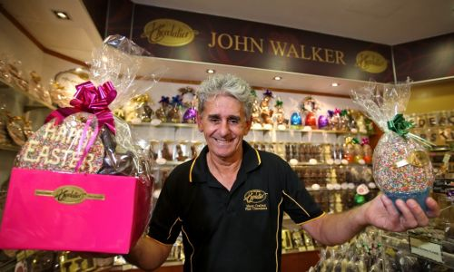 Even the world of chocolate has been disrupted, says John Walker, owner of John Walker Chocolatier. Picture: David Baylis.