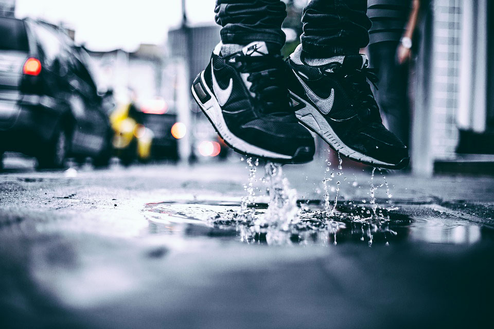 jumpng in puddles