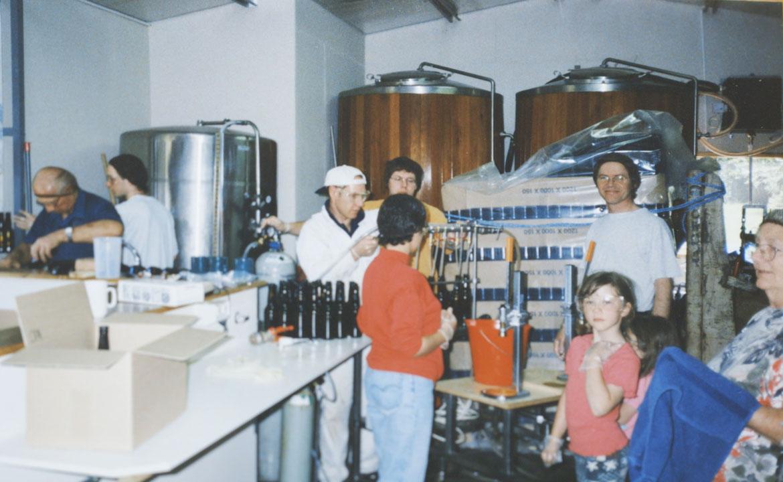 Holgate's first ever bottling day